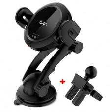 Автодержатель Hoco CA35 присоска + решетка Wireless Black