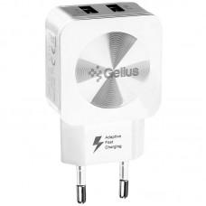 Адаптер сетевой Gelius Ultra Prime GU-HC02 2USB 2.1A White