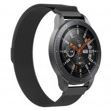 Браслет металлический SK Milanese для Samsung Xiaomi Huawei Garmin Fitbit 22mm Black