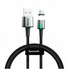 Кабель USB-Type-C Baseus Zinc Fabric Magnetic CATXC-A01 1m Black