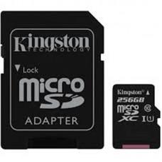 Карта памяти MicroSDXC 256GB UHS-I Class 10 Kingston Canvas Select + Adapter SD (SDCS/256GB)