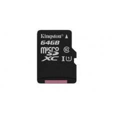 Карта памяти MicroSDXC 64GB UHS-I Class 10 Kingston Canvas Select (SDCS/64GBSP)