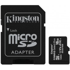Карта памяти MicroSDHC 16GB UHS-I Class 10 Kingston Canvas Select Plus R100MB/s + Adapter SD