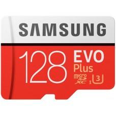 Карта памяти MicroSDXC 128GB UHS-I Class 10 Samsung Evo Plus R100/W90MB/s + Adapter SD