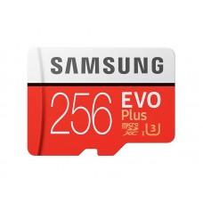 Карта памяти MicroSDXC 256GB UHS-I Class 10 Samsung Evo Plus R100/W90MB/s + Adapter SD