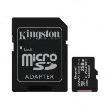 Карта памяти MicroSDXC 256GB UHS-I U3 Class 10 Kingston Canvas Select Plus R100/W85MB/s + Adapter SD