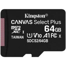Карта памяти MicroSDXC 64GB UHS-I Class 10 Kingston Canvas Select Plus R100MB/s (SDCS2/64GBSP)