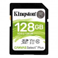 Карта памяти SDXC 128GB UHS-I U3 Class 10 Kingston Canvas Select Plus R100/W85MB/s (SDS2/128GB)