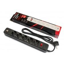 Сетевой фильтр FrimeCom (FC-BU4005W 1.8 B) 5 розеток 2USB 1.8m 10A Black
