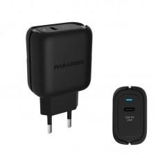 Адаптер сетевой Marakoko MA33 1USB 3A Type-C Black (RL050295)