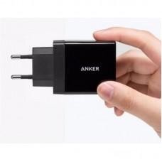 Зарядное устройство сетевое Anker PowerPort 2 2USB 2.4A V3 Black + cable USB-MicroUSB