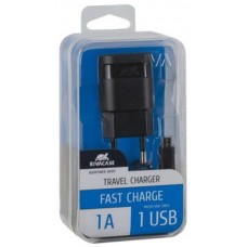 Зарядное устройство сетевое Rivacase 1USB 1A Black (VA4111 BD1) + cable USB-MicroUSB