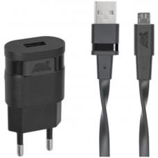 Зарядное устройство сетевое Rivacase 1USB 1A Black (VA4111 BD1) + cable MicroUSB