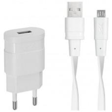 Зарядное устройство сетевое Rivacase 1USB 1A White (VA4111 WD1) + cable MicroUSB
