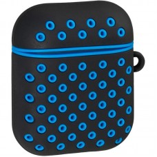 Чехол TPU SK для наушников AirPods Black/Blue