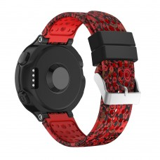 Ремешок TPU SK Pattern Printing для Garmin Forerunner 220 230 235 620 630 735 15mm Red