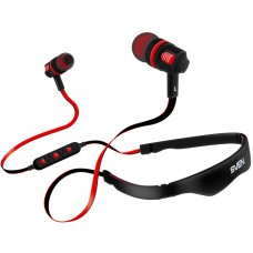Наушники гарнитура вакуумные Bluetooth Sven E-216B Black/Red