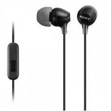 Наушники гарнитура вакуумные Sony MDR-EX15AP Black