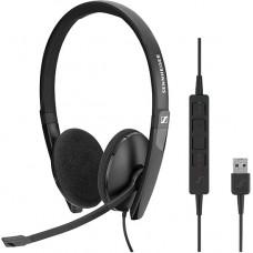 Наушники гарнитура накладные Sennheiser SC 160 USB Black (508315)