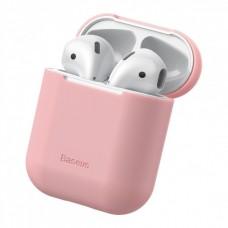 Чехол TPU Baseus для наушников Apple AirPods 1/2 Pink