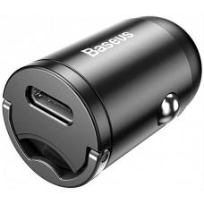 Адаптер автомобильный 1USB + Type-C Baseus Tiny Star Mini PPS QC 3.0 3A 30W (VCHX-B0G) Grey