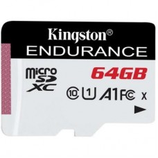 Карта памяти MicroSDXC 64GB UHS-I Class 10 Kingston High Endurance (SDCE/64GB)