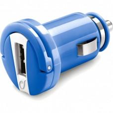 Адаптер автомобильный Cellularline Compact 1USB 1A Blue (MICROCBRUSBB)