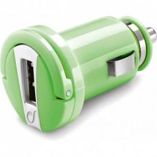 Адаптер автомобильный Cellularline Compact 1USB 1A Green (MICROCBRUSBG)