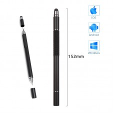 Стилус ручка SK 3 в 1 Capacitive Drawing Point Ball TPU Black
