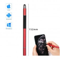 Стилус ручка SK 3 в 1 Capacitive Drawing Point Ball TPU Red