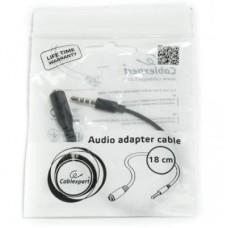 Кабель Audio 3.5мм-3.5мм Gembird кроссовер контактов GND и MIC Black (CCA-419)