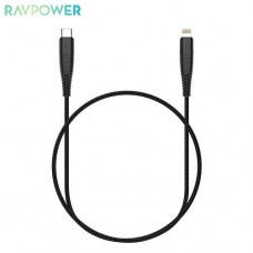 Кабель Lightning-Type-C RavPower 1m Black (RP-CB020)