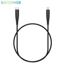 Кабель Lightning-Type-C RavPower 1m Black (RP-CB020)