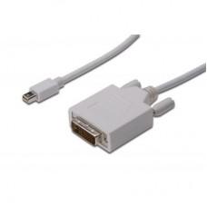 Кабель MiniDisplayPort-DVI (AM/AM) Digitus 3m White (AK-340305-030-W)