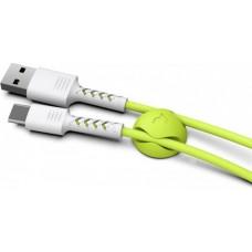 Кабель USB-Type-C Pixus 1m Lime White (PXS StW/L)
