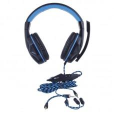 Наушники гарнитура накладные Gemix W-360 Black/Blue