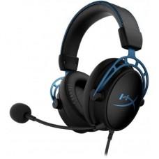 Наушники гарнитура накладные HyperX Cloud Alpha S Black/Blue (HX-HSCAS-BL/WW)