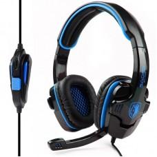 Наушники гарнитура накладные Sades SA-708 Black/Blue