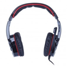 Наушники гарнитура накладные Sades SA-708 Black/Red