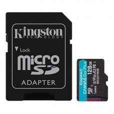 Карта памяти MicroSDXC 128GB UHS-I U3 Class 10 Kingston Canvas Go! Plus R170/W90MB/s + Adapter SD