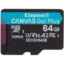 Карта памяти MicroSDXC 64GB UHS-I U3 Class 10 Kingston Canvas Go! Plus R170/W70MB/s (SDCG3/64GBSP)