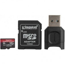 Карта памяти MicroSDXC 128GB UHS-II U3 Class 10 Kingston Canvas React Plus R285/165MB/s + Adapter SD