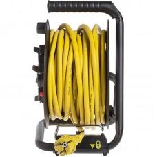 Удлинитель на катушке Stanley 16A 20m IP44 4 розетки Black/Yellow (SXECCL27ARE)