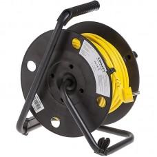 Удлинитель на катушке Stanley 16A 40m IP44 4 розетки Black/Yellow (SXECCL26BVE)