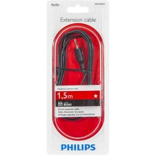 Кабель Audio Aux 3.5мм-3.5мм Philips 1.5m Black (SWA2528W/10)