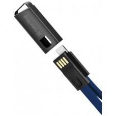 Кабель ColorWay USB-Lightning 2.4А 0.22m Blue (CW-CBUL021-BL)