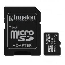 Карта памяти MicroSDHC 8GB UHS-I Class 10 Kingston Industrial + SD Adapter (SDCIT/8GB)