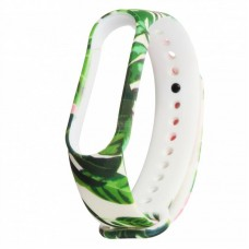 Ремешок TPU Armorstandart для Xiaomi Mi Band 5 Tropics White/Green (ARM57019)