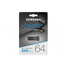 Флешка USB 3.1 64GB Samsung Bar Plus Black (MUF-64BE4/APC)
