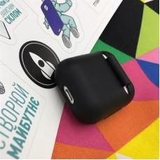 Чехол TPU MakeFuture для наушников Apple AirPods 1/2 Black (MCL-AA1/2BK)
